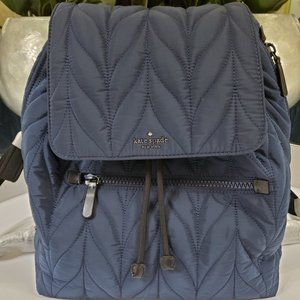 NWT KATE SPADE ELLIE QUILTED BACKPACK NAVY $299